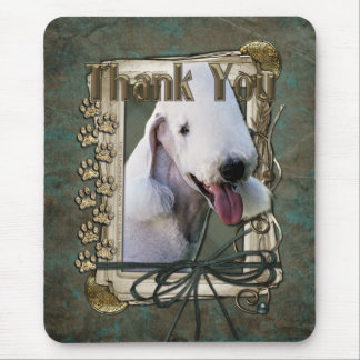 Thank You - Stone Paws - Bedlington Terrier Mouse Pad
