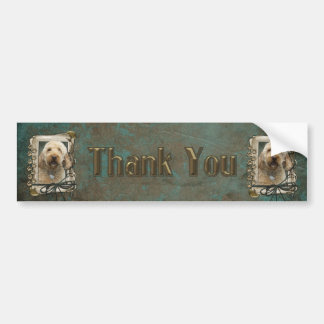 Thank You - Stone Paws - GoldenDoodle Bumper Sticker