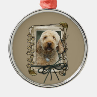 Thank You - Stone Paws - GoldenDoodle Christmas Ornament
