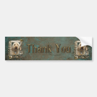 Thank You - Stone Paws - GoldenDoodle - Dad Bumper Sticker