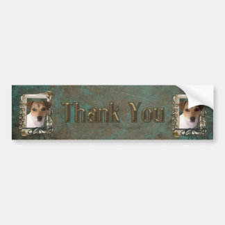 Thank You - Stone Paws - Jack Russell Bumper Stickers