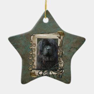 Thank You - Stone Paws - Newfoundland Christmas Ornament