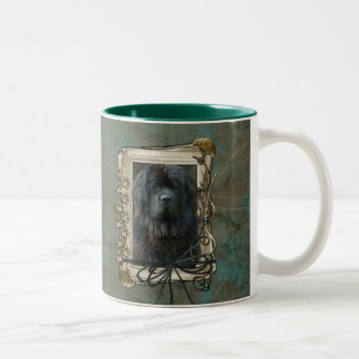 Thank You - Stone Paws - Newfoundland Two-Tone Coffee Mug