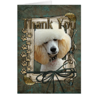 Thank You - Stone Paws - Poodle - Apricot Card