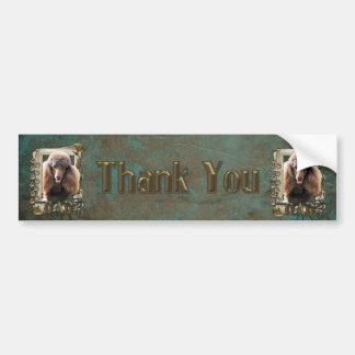 Thank You - Stone Paws - Poodle - Chocolate - Dad Bumper Sticker
