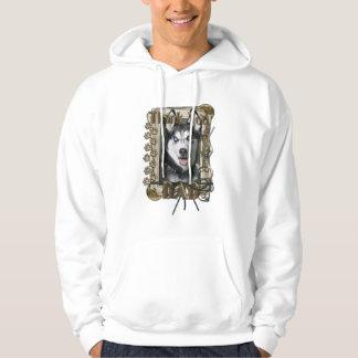 Thank You - Stone Paws - Siberian Husky - Dad Sweatshirts