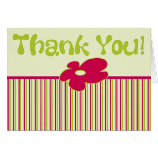 Thank You - Striped Greeting Card