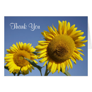 Thank You Sunflower Greeting Card -  Verse Inside