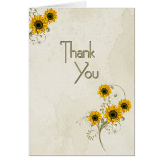 Thank You Sunflowers Greeting Card