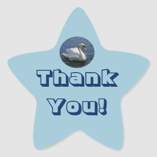 Thank You Swan Sticker