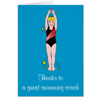 Thank You: Swimming Coach Card