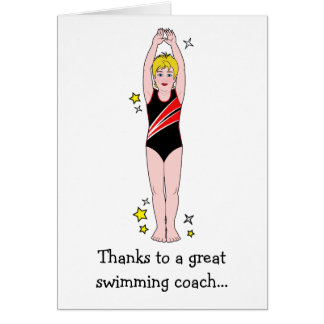 Thank You: Swimming Coach Greeting Card