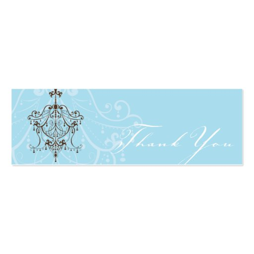 THANK YOU TAG :: chandelier Pack Of Skinny Business Cards
