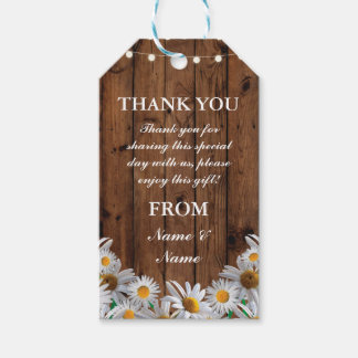 Thank you Tag Daisy Favour Tags Wood Wedding