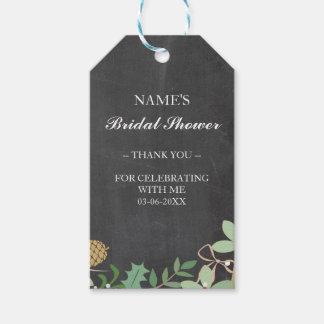 Thank you Tag Favour Chalk Foliage Bridal Shower
