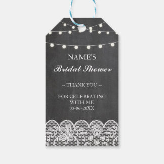 Thank you Tag Favour Chalk Lace Bridal Shower