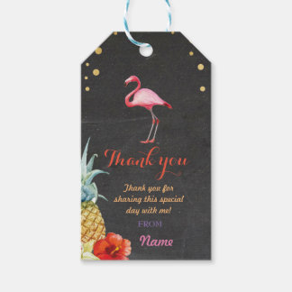 Thank you Tag Favour Flamingo Aloha Tiki Pineapple