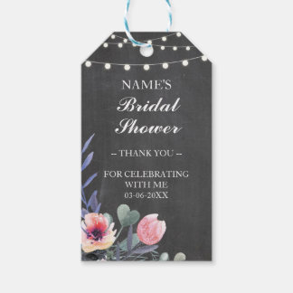 Thank You Tag Favour Pink Flower Bridal Shower