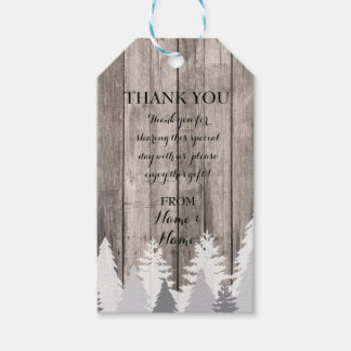 Thank you Tag Favour Tags Wood Tree Winter Wedding