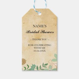 Thank you Tag Favour Vintage Foliage Bridal Shower