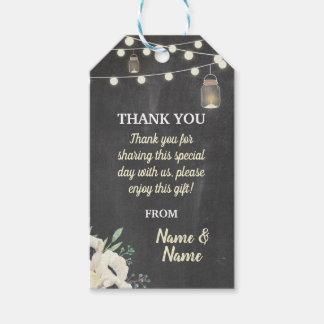 Thank you Tag Fireflies Favour Tags Chalk Wedding