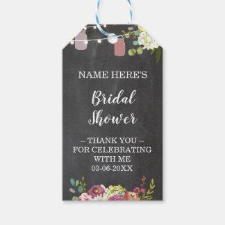 Thank you Tag Floral Favour Jar Bridal Shower