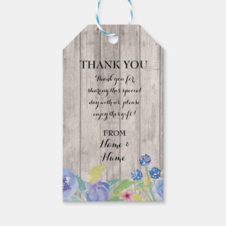 Thank you Tag Floral Favour Tags Wood Wedding