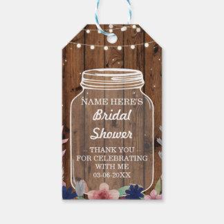 Thank you Tag Floral Favour Wood Jar Bridal Shower