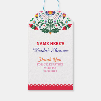 Thank you Tag Floral Fiesta Mexico Bridal Shower