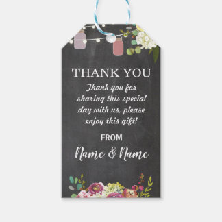 Thank you Tag Floral Jars Favour Tags Chal Wedding