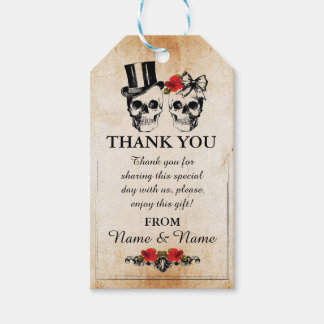 Thank you Tag Rustic Skulls Favour Tags Wedding