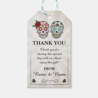 Thank you Tag Sugar skulls Favour Tags Wedding