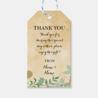 Thank you Tag Winter Favour Tags Paper Wedding