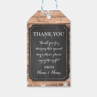 Thank you Tag Winter Snowflakes Tags Chalk Wedding