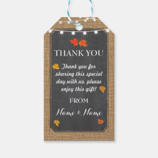 Thank you Tags Fall Favour Lights Elegant Wedding