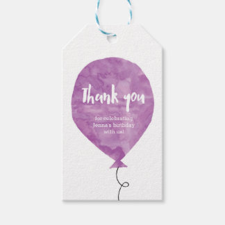 Thank you tags   Favour tags   Blue Balloon