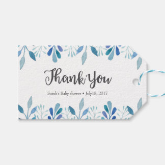 Thank you tags   Favour tags   Blue Watercolor