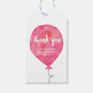 Thank you tags   Favour tags   Pink Balloon