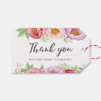 Thank you tags   Favour tags   Watercolor Peonies