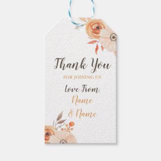 Thank You Tags Wedding Autumn Fall Auburn Flowers