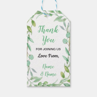 Thank You Tags Wedding Leaves Leaf Nature Favor