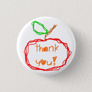 Thank You Teacher 3 Cm Round Badge