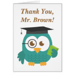 Thank You, Teacher Appreciation, Teacher Owl Greeting Card