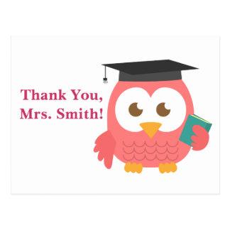Thank You, Teacher Appreciation, Teacher Owl Postcard