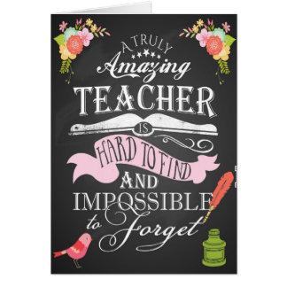 Thank you teacher card appreciation week