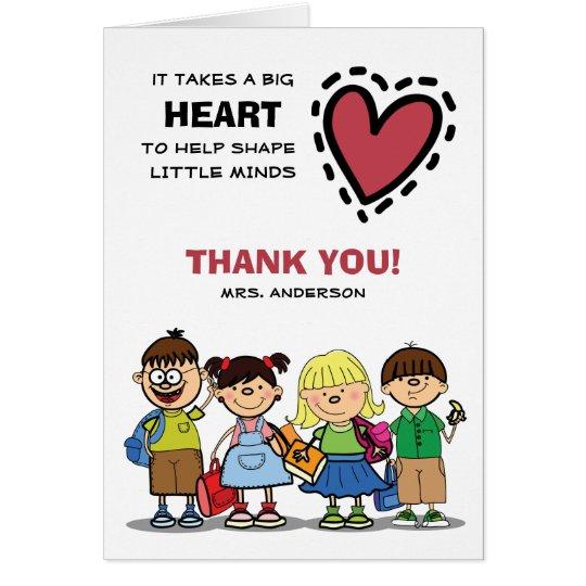 Thank You, Teacher. Custom Name Greeting Cards