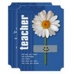 Thank You, Teacher. Customisable Flat Cards 13 Cm X 18 Cm Invitation Card