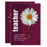Thank You, Teacher. Customisable Greeting Cards 13 Cm X 18 Cm Invitation Card