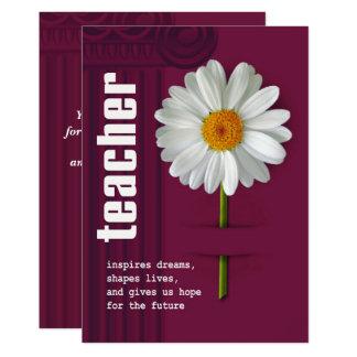Thank You, Teacher. Customizable Greeting Cards 13 Cm X 18 Cm Invitation Card