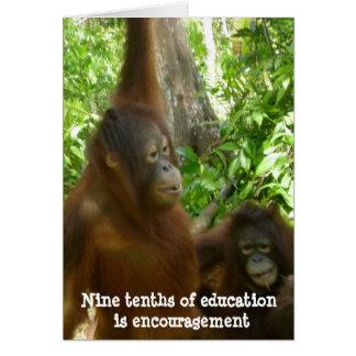 Thank You Teacher Encouragement Card